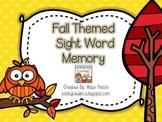 Fall Themed Sight Word Memory