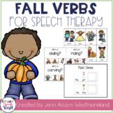 Fall Verbs!  Grammar Activities for Verb Tense & Sentences