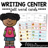 Fall Word Cards {and writing practice}