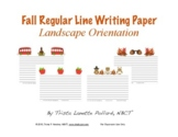 Fall Writing Paper: Regular Lined (Landscape and Portrait)