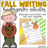 Fall Writing for Kinders