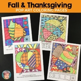 Thanksgiving Activities - Interactive Coloring Sheets