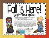 Fall is Here Sight word game