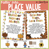 Fallin' Into Place Value Activities {Centers, Printables,