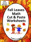 Autumn Math and Literacy  Cut and Paste Worksheets