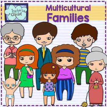Family and adjectives clipart