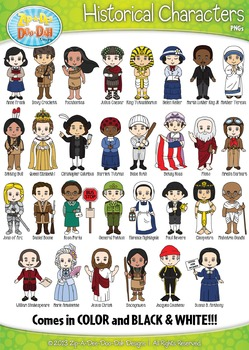 Famous Historical Characters Clip Art Bundle Pack — Includes 30 Characters!