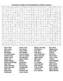 Famous People from New Mexico Crossword and Word Search