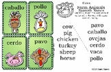 Farm Animals Spanish Names Play & Learn Pack