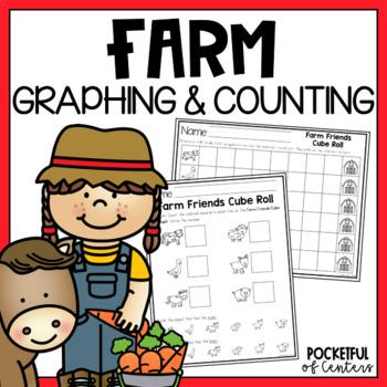 Farm Friends Cube Roll Printable Math Game
