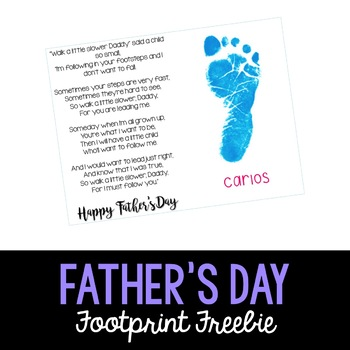 Father's Day Footprint Poem