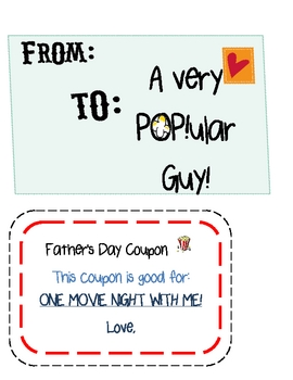 "Father's Day  ""For a POP!ular Guy"""