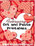 February Cut and Paste Printables