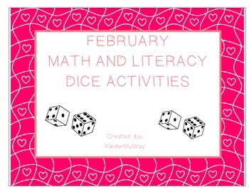February Dice Activities - Language Arts and  Math