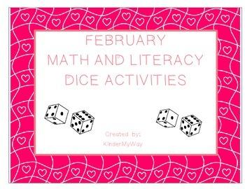 February Dice Activities - Language Arts and  Math