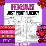February Just Print Fluency Pack