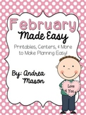 February Made Easy!  Printables, Centers, and More to Make