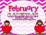 February Promeathean Board Calendar