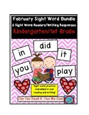 February Sight Words Unit: 6 Emergent Reader Books/Writing