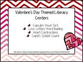February Valentine's Day Literacy Centers