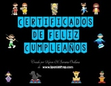 Feliz Cumpleaños Happy Birthday Certificates in Spanish