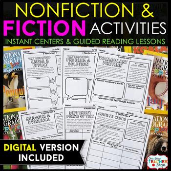 Fiction & Non-Fiction Activity Sheets BUNDLE } NO Prep