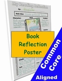 Fiction Reading Reflection Poster for Grades 3-6