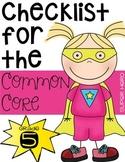 Fifth Grade Common Core Checklist