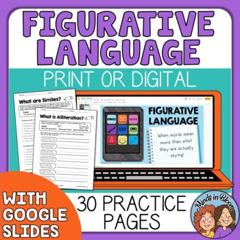Figurative Language: Idioms, Similes, Metaphors, etc. CCSS Aligned +Answer Keys