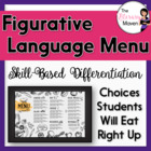 Figurative Language Menu Based on Bloom's Taxonomy & Commo