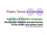Figurative Language & Poetic Devices Powerpoint Presentation