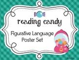 Figurative Language Poster Set Reading Candy Theme, Set of 10