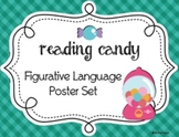 Figurative Language Poster Set Reading Candy Theme, Set of 10