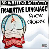Figurative Language Snowglobes - A Winter Literacy Craftivity