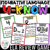 Figurative Language Game for Literacy Centers