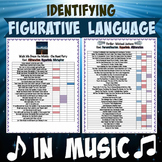Figurative Language in Popular Songs with Suggested Answer Key