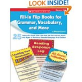 Fill In Flip Book for Grammar, Vocabulary and More