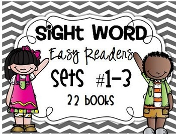 Fill In The Sight Word Readers BUNDLE Sets #1-3