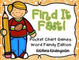 Find it Fast Pocket Chart Games {Word Families Edition}