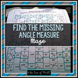 Find the Missing Angle (adjacent, linear, & more): Maze