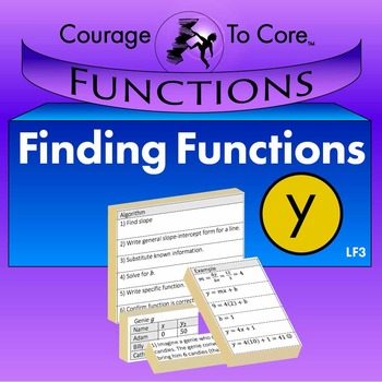Finding Equations for Linear Functions (LF3)