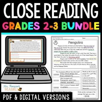 Finding Evidence & Making Inferences Reading Comprehension Passages - BUNDLE