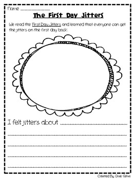FIRST DAY JITTERS RESPONSE PAGE - TeachersPayTeachers.com