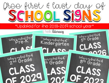 """First Day of {Any} Grade"" School Photo Signs [for student"
