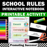 Back to School Activities Classroom Rules Interactive Note
