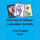 First Day of School Icebreaker- Artist Trading Cards