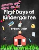 First Days Of Kindergarten Activities and Helpful Handouts