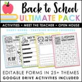 Back to School Activities and First Days of School Kit