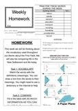 First Fleet Homework Sheet