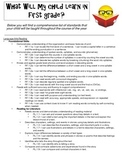 First Grade CCSS Handout for Parents